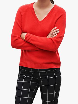 Pure Collection Cashmere Lofty V-Neck Sweatshirt