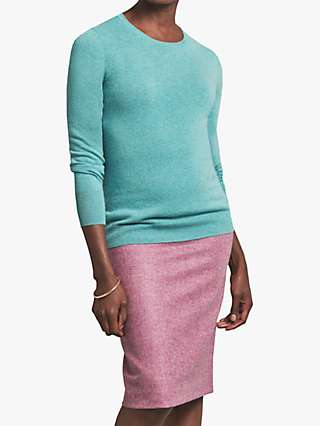 Pure Collection Wool Pencil Skirt, Rich Lilac