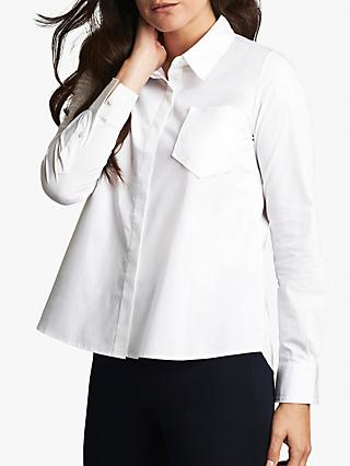 Pure Collection Cotton Swing Shirt, White