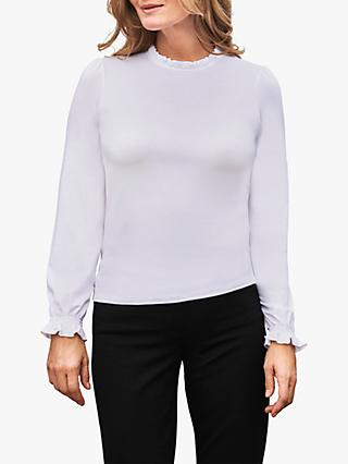 Pure Collection Ruffle Neck Top