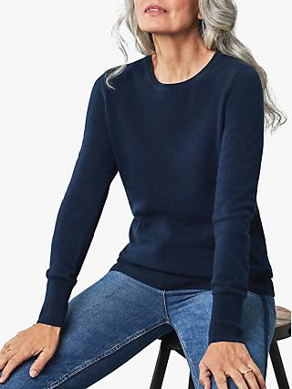 Pure Collection Cashmere Crew Neck Jumper