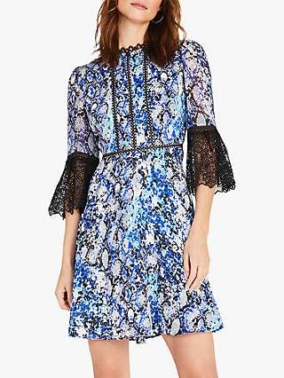 Damsel in a Dress Anysia Abstract Mini Dress, Blue