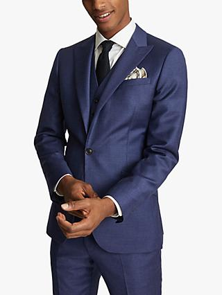 Reiss Christopher Wool Slim Fit Suit Jacket, Electric Blue