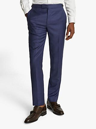 Reiss Christopher Tailored Fit Wool Suit Trousers, Electric Blue
