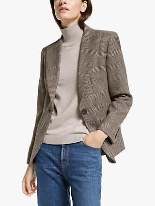 Weekend Max Mara Eolo Check Blazer, Caramel