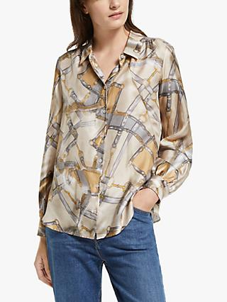 Weekend Max Mara Nido Silk Shirt, Camel/Multi