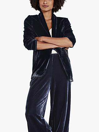 hush Maida Velour Blazer, Midnight