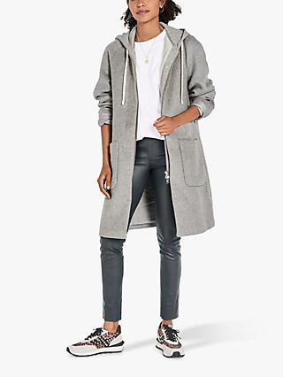 hush Ali Hooded Coat, Grey Marl