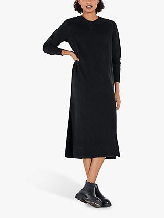 hush Organic Cotton Midi Sweatshirt Dress