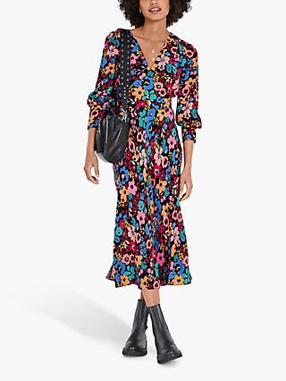 hush Amabel Floral Midi Dress, Multi