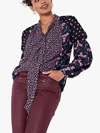 hush Sarah Mixed Print Blouse, Multi
