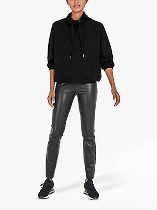 hush Thora Funnel Neck Sweat Top, Black
