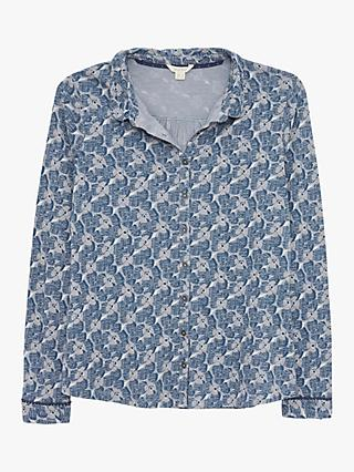 White Stuff Pom Shirt, Blue