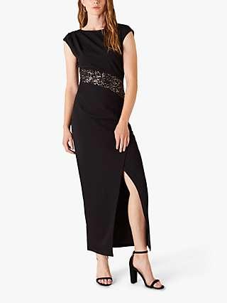 Monsoon Olive Maxi Dress, Black