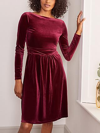 Boden Abigail Velvet Knee Length Dress