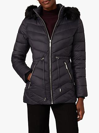 Phase Eight Cora Puffer Coat, Navy