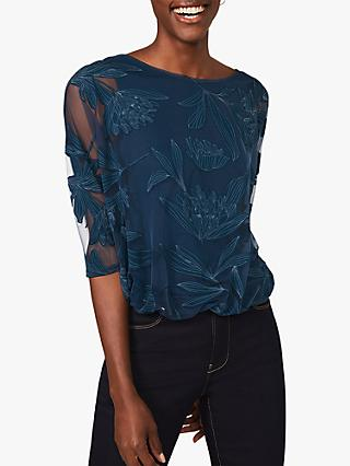 Phase Eight Cerys Floral Burnout Top