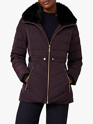 Phase Eight Bobbie Puffer Coat, Plum