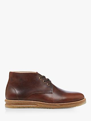Dune Catapult Leather Desert Boots, Dark Brown