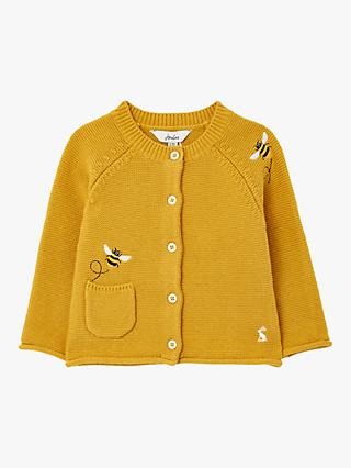 Baby Joule Betsie Bee Embellished Cardigan, Yellow