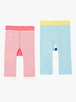 Baby Joule Lively Stripe Leggings, Pack of 2, Multi