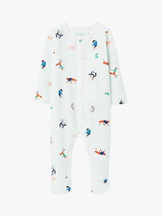 Baby Joule Ziggy Animal Babygrow, Light Green