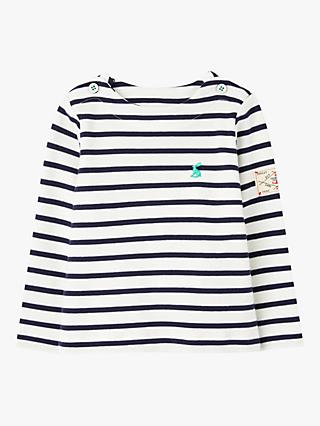 Baby Joule Harbour Stripe Top, Navy