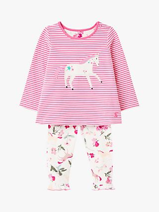 Baby Joule Poppy Two Piece Outfit Set, Pink