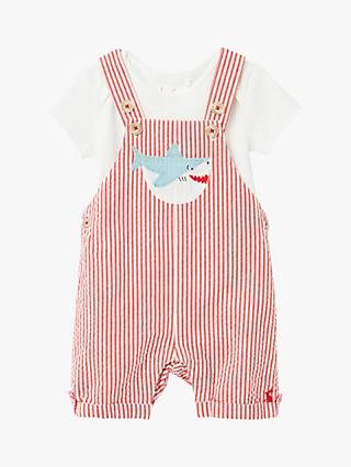 Baby Joule Nicholas Dungaree Set, Red