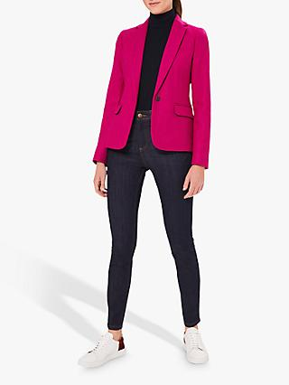 Hobbs Blake Wool Jacket, Bright Pink