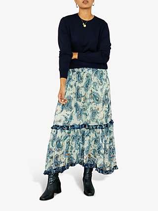 East Shikha Embellished Maxi Skirt, Green