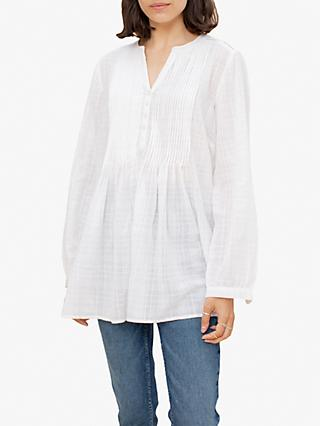 East Maisie Pintuck Front Blouse, White