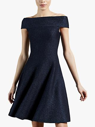 Ted Baker Shelbiy Sparkly Skater Dress, Navy