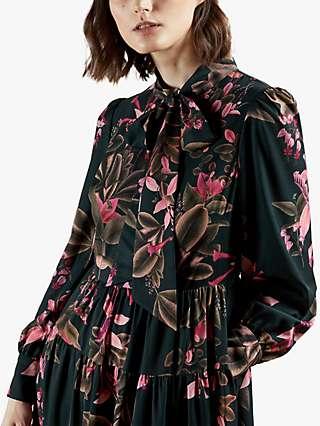 Ted Baker Irmiina Floral Midi Dress, Green