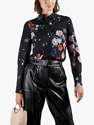 Ted Baker Ebonny Floral Print Top, Black