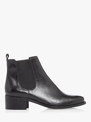 Dune Patrole T Leather Chelsea Boots, Black