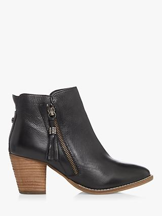 Dune Profound Leather Zip Ankle Boots