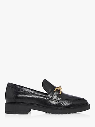 Dune Gisella Leather Reptile Loafers