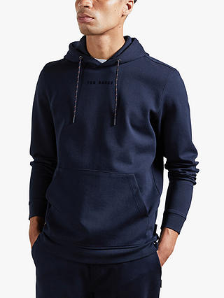 Buy Ted Baker Showbiz Stretch Cotton Hoodie, Navy Blue, XS Online at johnlewis.com