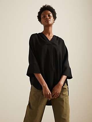 Kin Crossover Kimono Top, Black