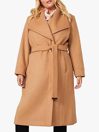 Studio 8 Nicci Belted Wool Blend Coat, Camel
