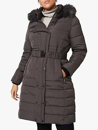 Studio 8 Leona Long Puffer Coat, Grey
