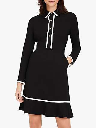 Damsel in a Dress Natalya Tipped Mini Dress, Black