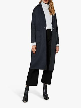 Mint Velvet Wool Blend Coat, Dark Grey