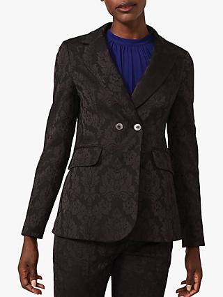 Phase Eight Joanne Jacquard Jacket, Black