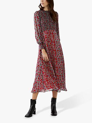 Ghost Tilly Floral Maxi Dress, Red