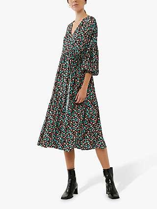 Ghost Caspy Floral Midi Dress, Multi