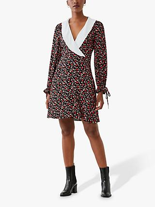 Ghost Piper Crepe Dress, Red Love Ditsy