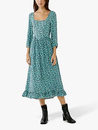 Ghost Rosina Ditsy Floral Dress, Blue