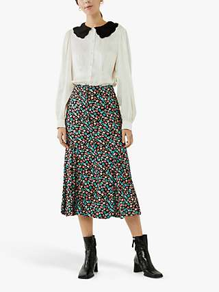 Ghost Simone Midi Skirt, Black